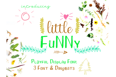Little Funny Font - Include 4 Font