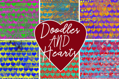 Vibrant Hearts and Doodles