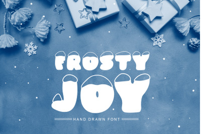 Frosty Joy Hand Drawn Display Font