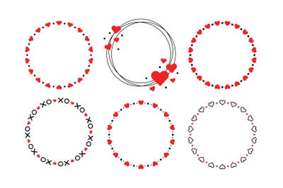 Heart Valentine Frame Clip Art Set