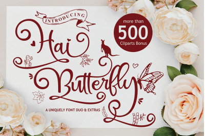 Hai Butterfly Font Duo