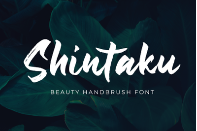 Shintaku - Beauty Handbrush Font -