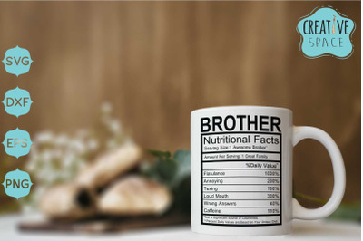 Brother Nutrition Facts Svg