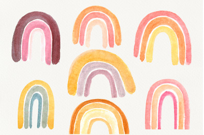 Watercolor Rainbow Clipart