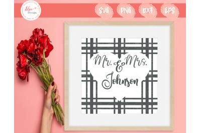 Mr. And Mrs. Plaid Monogram SVG