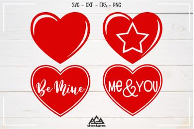 Heart Love Valentine Packs Svg Design