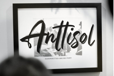 Anttisol - Handwritten Brush Font Anttisol - Handwritten Brush Font b