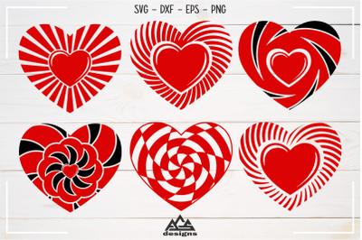 Heart Love Shape Valentine Pack Svg Design