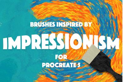 IMPRESSIONISM BRUSHES PROCREATE 5