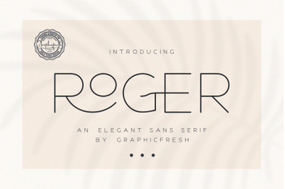 Roger  An Elegant Sans Serif