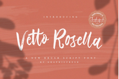 Vetto Rosella  Handwritting Font