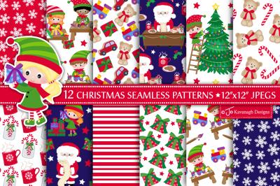 Christmas digital paper, Christmas patterns -P46