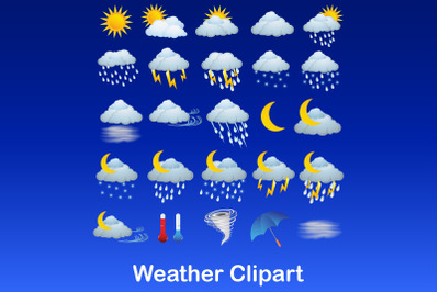 Weather Clipart, Weather Graphics, Weather