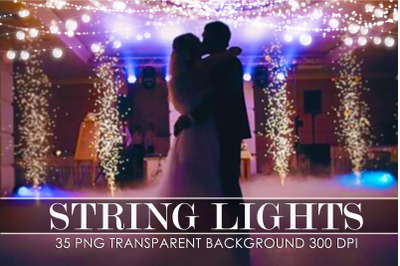 String lights overlay