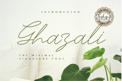 Ghazali  The Minimal Signature Font