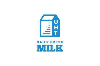 Milk logo vector for your fresh milk product or business