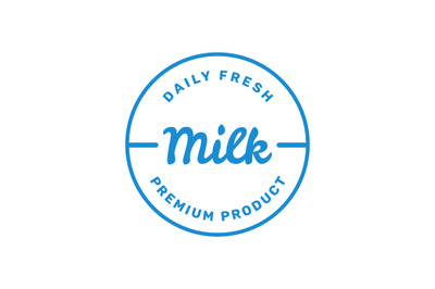 Milk logo vector for your fresh milk product or business.