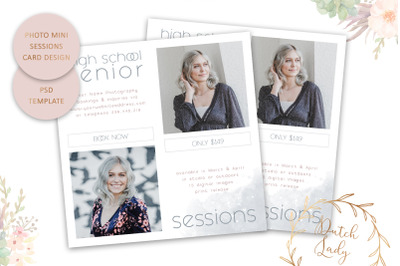 PSD Photo Session Card Template #53