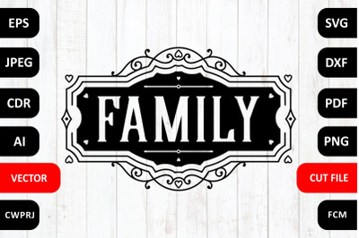 Love Family SVG Quote cut file