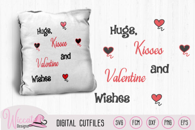 hugs, kisses and valentine wishes