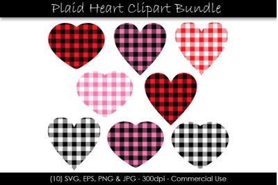 Valentine's Day Buffalo Plaid Hearts