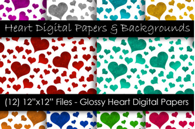 Glossy Color Heart Patterns