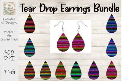 Tear Drop Earring Bundle - Serape Backgrounds