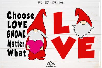 Love GNOME Valentine Svg Design