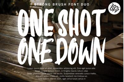 ONE SHOT FONT DUO !!!