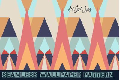 Seamless vector wallpaper geometric pattern