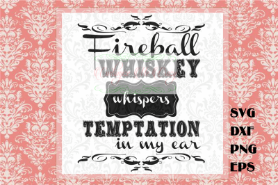 Fireball Whiskey SVG