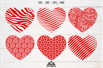 Love Heart Pattern Valentine Svg Design