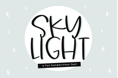 Sky Light - A Cute and Quirky Handwritten Font