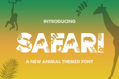 Safari Silhouette Font