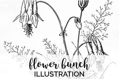 Flowers Black and White Clipart
