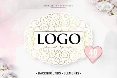 Logo. Backgrounds. Elements.