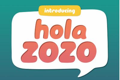 Hola Zozo ~ A Chubby Font