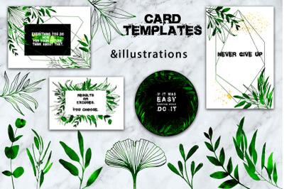 Stylish templates and illustrations