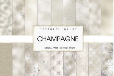 wedding digital paper champagne