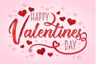 Happy valentine s day lettering