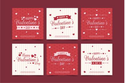 Valentine s day sale instagram post collection
