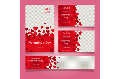 valentine s day web banner collection