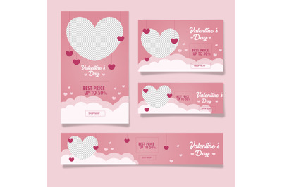 valentine s day web banner with photo