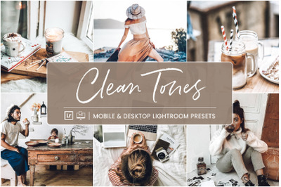 Clean Tones -  Mobile & Desktop Lightroom Presets
