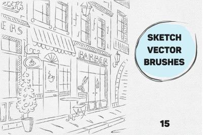 Vector sketch brushes illustrator