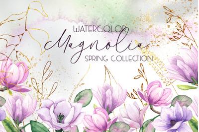 Magnolia. Watercolor collection