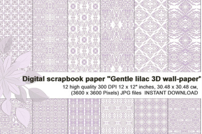 Gentle lilac Wedding Digital Paper