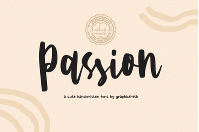 Passion  A Cute Handwritting Font