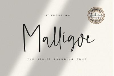 Malligoe  The Script Branding Font