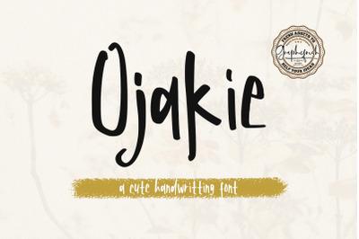 Ojakie  Cute Display Font